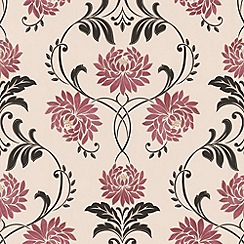 Laurence Llewelyn-Bowen - Red/cream Petal wallpaper