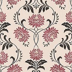 Laurence Llewelyn-Bowen - Red/cream Petal wallpaper