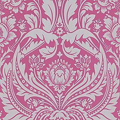 Graham & Brown - Pink/silver Desire wallpaper
