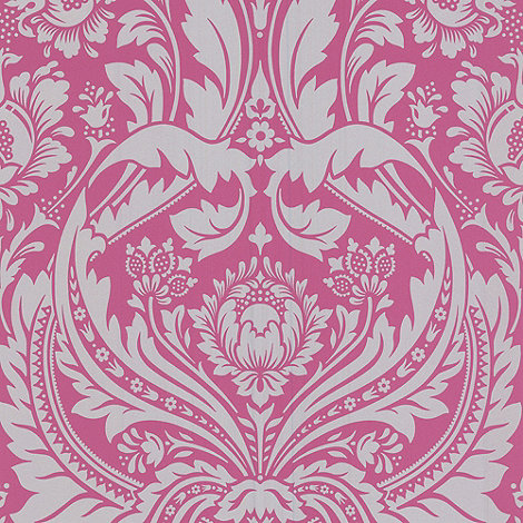 Graham & Brown - Pink/silver Desire wallpaper