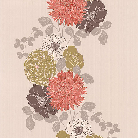 Graham & Brown - Coral Trailing Flower wallpaper