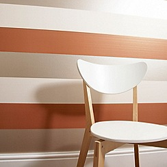 Graham & Brown - Burnt orange Figaro wallpaper