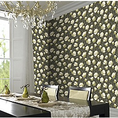 Amy Butler - Moss Field Poppies wallpaper