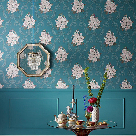 Graham & Brown - Teal Dauphin wallpaper