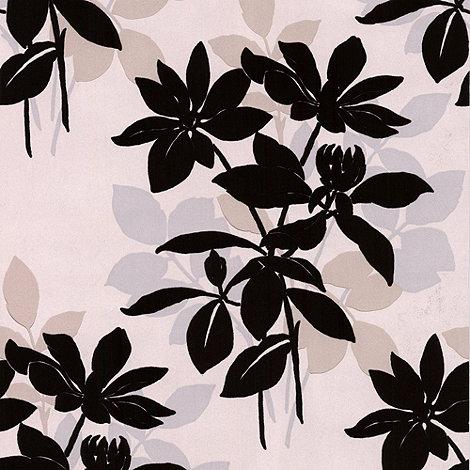 Laurence Llewelyn-Bowen - Natural Velvet Undergrowth flock wallpaper