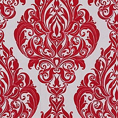 Laurence Llewelyn-Bowen - Scarlet starlet Kinky Vintage flock wallpaper
