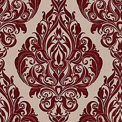 Laurence Llewelyn-Bowen - Bordeaux bordello Kinky Vintage flock wallpaper