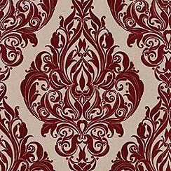 Laurence Llewelyn-Bowen - Bordeaux bordello Kinky Vintage flock wallpaper