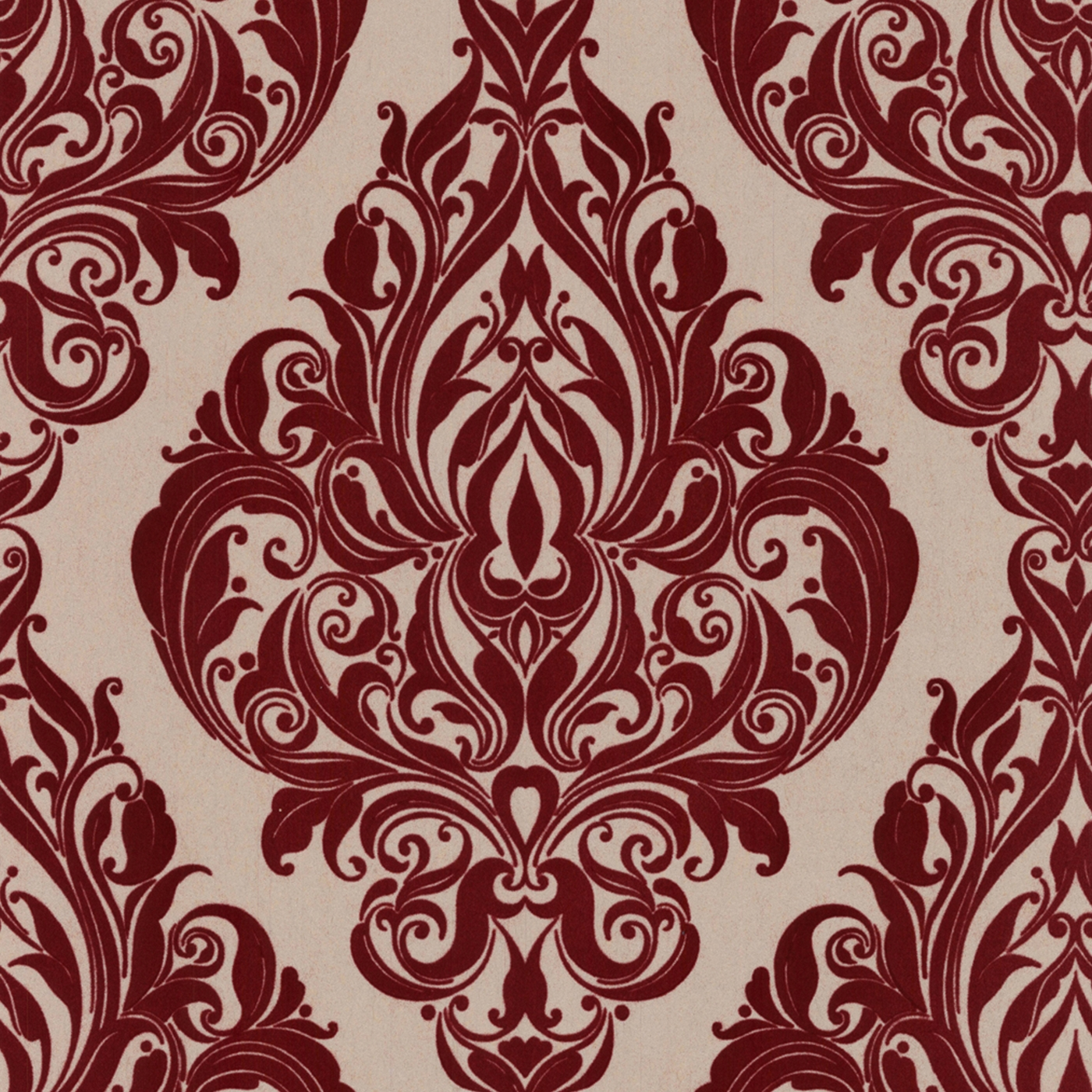Laurence Llewelyn Bowen Bordeaux bordello Kinky Vintage flock wallpaper