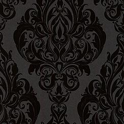Laurence Llewelyn-Bowen - Naughy noir Kinky Vintage flock wallpaper