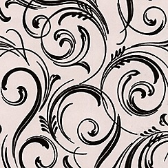 Laurence Llewelyn-Bowen - Domino Trix Swirly Wurly flock wallpaper