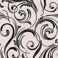 Laurence Llewelyn-Bowen - Domino Trix Swirly Wurly flock wallpaper