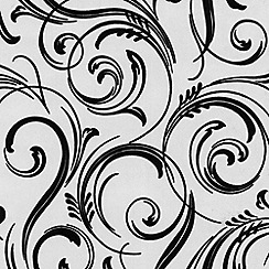 Laurence Llewelyn-Bowen - Cheeky charcoal Swirly Wurly flock wallpaper