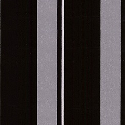 Laurence Llewelyn-Bowen - Tuxedo Flock Star Stripe flock wallpaper