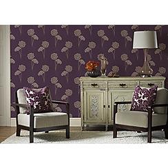 Fresco - Lilac Cora Wallpaper