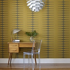 Graham & Brown - Mustard Do The Stretch Wallpaper
