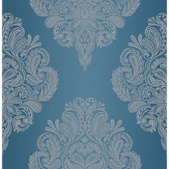 Laurence Llewelyn-Bowen - Teal LLB Cote Couture Wallpaper