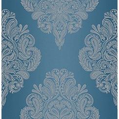 Graham & Brown - Teal LLB Cote Couture Wallpaper