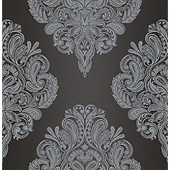 Laurence Llewelyn-Bowen - Black LLB Cote Couture Wallpaper