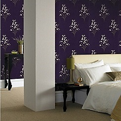 Graham & Brown - Plum Valley Wallpaper