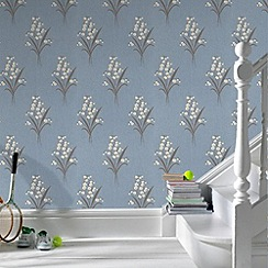 Graham & Brown - Duck Egg Valley Wallpaper