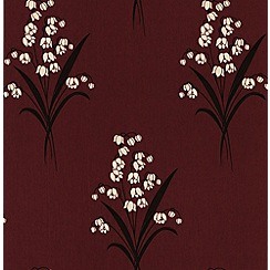Graham & Brown - Burgundy Valley Wallpaper
