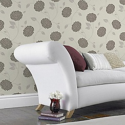 Fresco - Chocolate Brown Floral Bronte Wallpaper