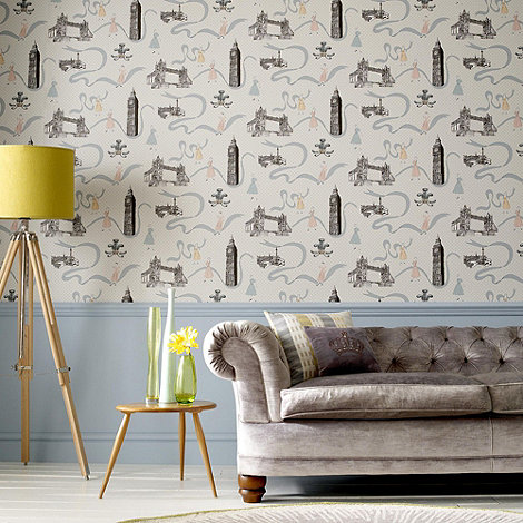 Graham & Brown - White Jubilee wallpaper