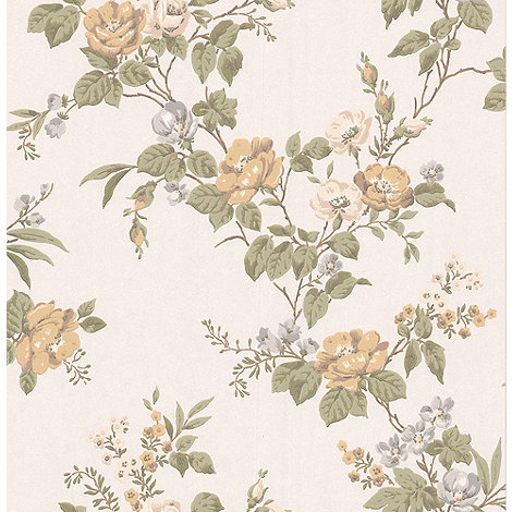 Graham & Brown - Cream Cottage Garden Wallpaper