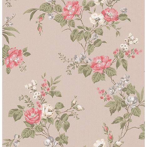 Graham & Brown - Raspberry Cottage Garden Wallpaper