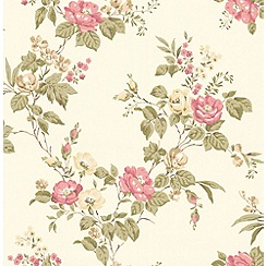 Graham & Brown - Pink Cottage Garden Wallpaper