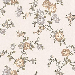 Graham & Brown - Pink Rose Cottage Wallpaper