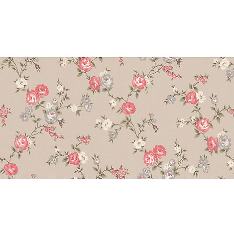 Graham & Brown - Raspberry Rose Cottage Wallpaper