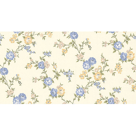Graham & Brown - Blue Rose Cottage Wallpaper