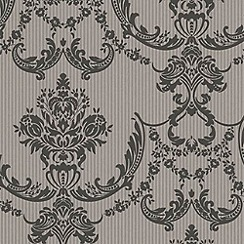 Graham & Brown - Black Palais Wallpaper