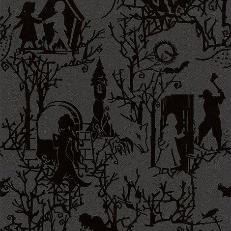 Graham & Brown - Midnight Fairytoile Flock Wallpaper