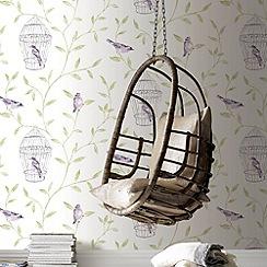 Fresco - Amethyst Bird Cage wallpaper
