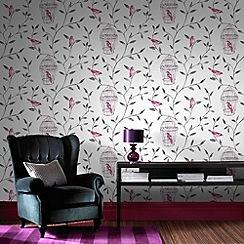 Fresco - Pink Bird Cage wallpaper