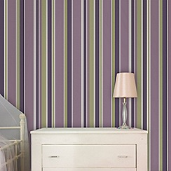 Fresco - Amethyst Rico Stripe Wallpaper