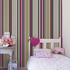 Fresco - Pink Rico Stripe Wallpaper