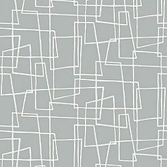 Hemmingway Designs - Dove Wonky Boxes Wallpaper