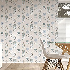 Fresco - Duck Egg Sketch Floral Wallpaper
