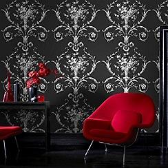 Fresco - Black De Lacey Wallpaper