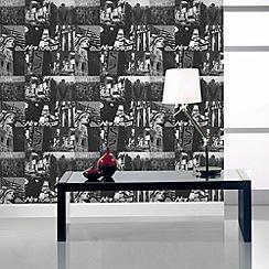 Fresco - Black New York Wallpaper
