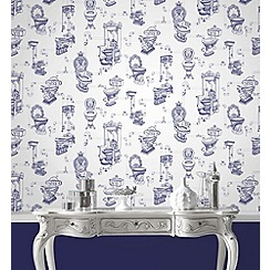 Graham & Brown - Blue loo loo wallpaper