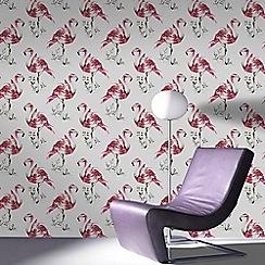 Fresco - Pink Flamingo Graphic Wallpaper