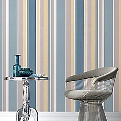 Fresco - Teal Rico Stripe Wallpaper