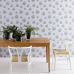 Graham & Brown - Taupe Fossil Leaf wallpaper