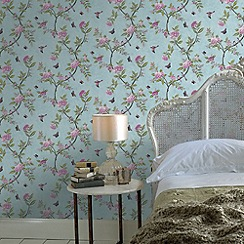 Graham & Brown - Duck Egg Chinoiserie Wallpaper