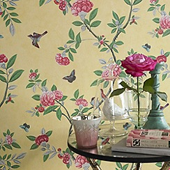 Graham & Brown - Imperial Yellow Chinoiserie Wallpaper